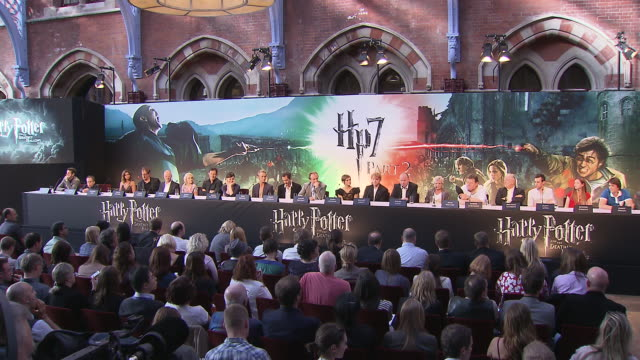 david yates on working with jk rowling how she was involved in the processes at the harry potter the deathly hallows part 2 press conference at... - j.k. rowling stock videos and b-roll footage