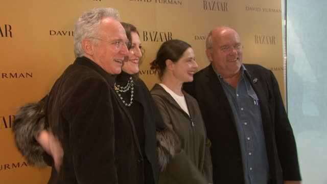 david yurman, glenda bailey, isabella rossellini, and peter lindbergh at the harper's bazaar celebrates peter lindbergh and holly fisher's new film... - community college stock videos & royalty-free footage