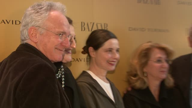 david yurman, glenda bailey, isabella rossellini, sybil yurman, and peter lindbergh at the harper's bazaar celebrates peter lindbergh and holly... - community college stock videos & royalty-free footage