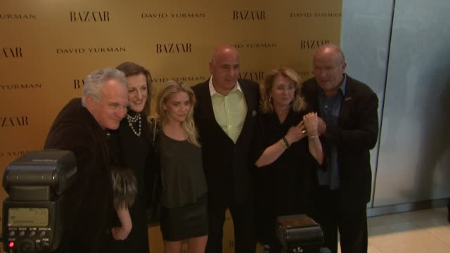 David Yurman Glenda Bailey Sybil Yurman Ashley Olsen Kevin Martinez and Peter Lindbergh at the Harper's Bazaar Celebrates Peter Lindbergh and Holly...