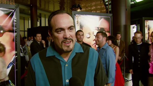 david zayas on the premiere and his familiarity with hector lavoe's music at the 'el cantante' los angeles premiere at director's guild of america in... - director's guild of america stock-videos und b-roll-filmmaterial