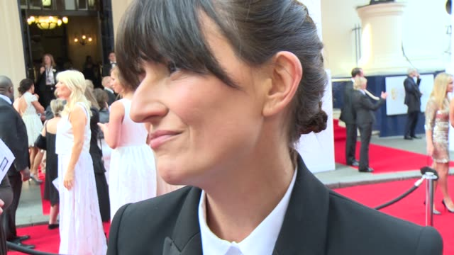 interview davina mccall on being nominated her future plan and her fashion sense at house of fraser british academy television awards - british academy television awards stock videos & royalty-free footage