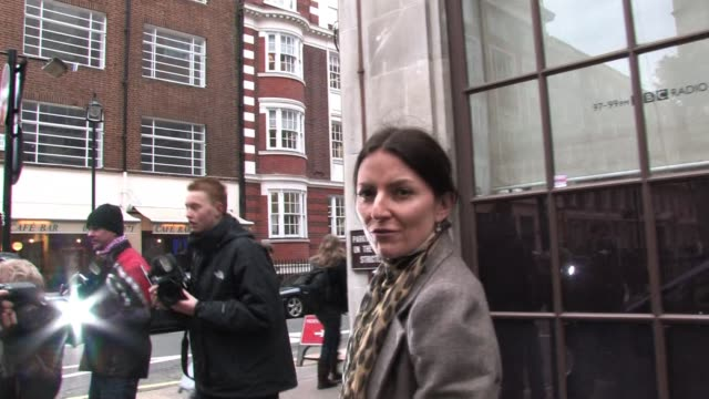 davina mccall visits bbc radio one as part of their current promotions. sighting: davina mccall at bbc radio one studios on january 24, 2011 in... - bbc radio stock videos & royalty-free footage