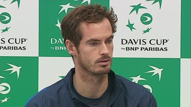 great britain beat australia to reach final; andy murry press conference sot - everyone in the whole team should be proud - davis cup stock videos & royalty-free footage