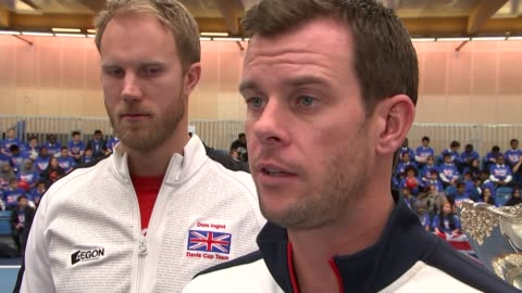 andy murray visits downing street; england: leon smith interview sot - now is the time to get people involved to keep momentum - davis cup stock-videos und b-roll-filmmaterial