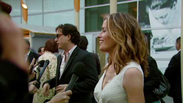 davis guggenheim and elisabeth shue at the 'gracie' premiere at arclight hollywood in hollywood, california on may 23, 2007. - elisabeth shue stock videos & royalty-free footage