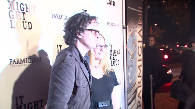 davis guggenheim , elisabeth shue at the 'it might get loud' premiere party at los angeles ca. - elisabeth shue stock videos & royalty-free footage