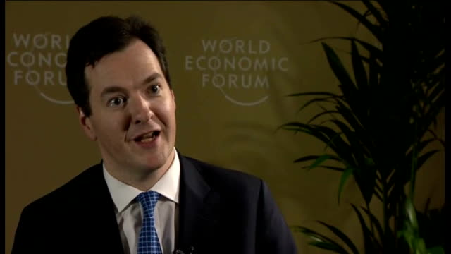 george osborne mp interview sot - britain of course has its own problems with the debts it ran up over the last decade but it's also very affected by... - grecia stato video stock e b–roll