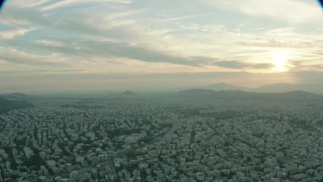 dawn aerial athens, greece - athens greece stock videos & royalty-free footage