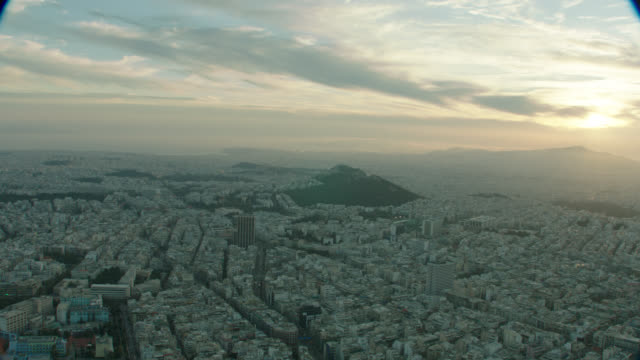 dawn aerial athens, greece - athens greece stock videos & royalty-free footage