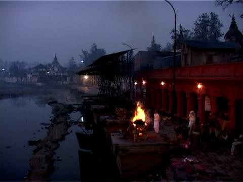 dawn at pashupatinath - hinduism stock videos & royalty-free footage