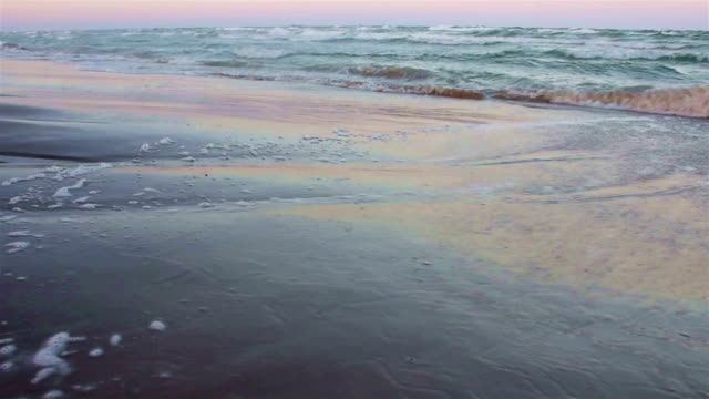 Morgendämmerung am Strand auf Padre Island Texas Strand brechenden Wellen am Strand bei Sonnenaufgang