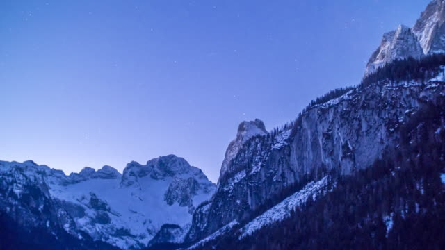 tl dawn at the dachstein mountains - dachstein mountains stock videos and b-roll footage