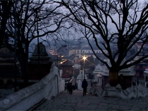 dawn at the temple complex of pashupatinath - kathmandu stock videos & royalty-free footage