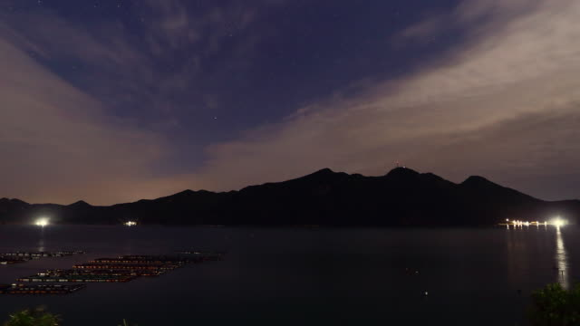 dawn clouds scenery of heuksando island / sinan-gun, jeollanam-do, south korea - seafood stock videos & royalty-free footage