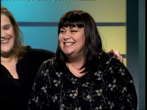 dawn french and alison moyet interview more interview vox pops sot more interview - dawn french stock videos & royalty-free footage