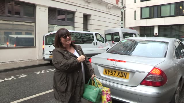 dawn french at celebrity video sightings on march 15 2013 in london england - dawn french stock videos & royalty-free footage