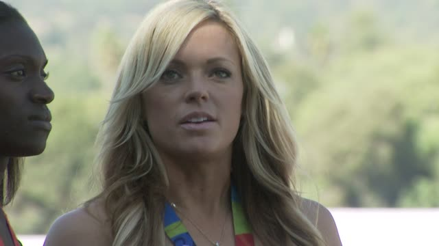 dawn harper and jennie finch at the breeders' cup world championships day one at los angeles ca - championships stock videos & royalty-free footage