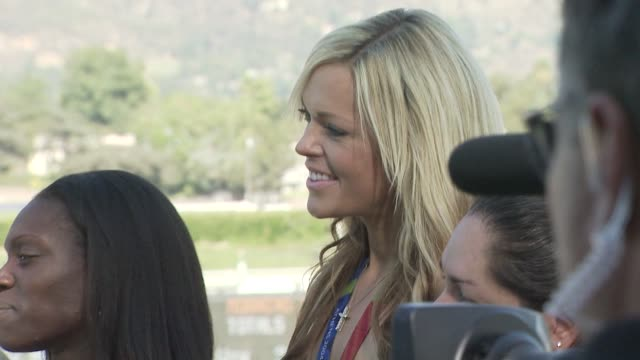 dawn harper and jennie finch at the breeders' cup world championships day one at los angeles ca. - championships stock videos & royalty-free footage