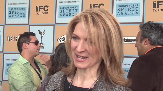 dawn hudson on the fact that 75 percent of the films nominated are not oscar contenders at the the 21st annual ifp independent spirit awards in santa... - ifp independent spirit awards stock videos and b-roll footage