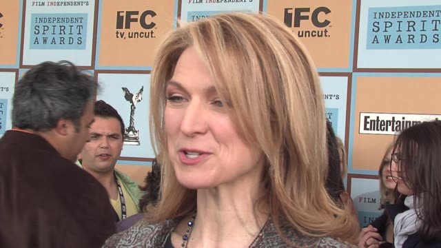 dawn hudson on the public's growing appetite for independent film and on independent films garnering more and more oscar attention every year at the... - ifp independent spirit awards stock videos and b-roll footage