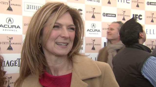 dawn hudson on why piaget is a perfect sponsor for this event. at the piaget at the 2011 independent spirit awards at santa monica ca. - independent feature project video stock e b–roll