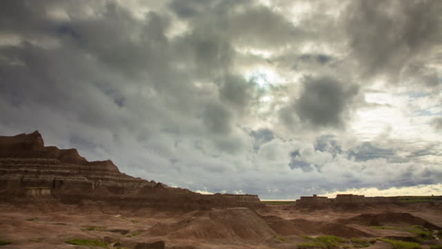 dawn in badlands - time lapse - badlands national park video stock e b–roll