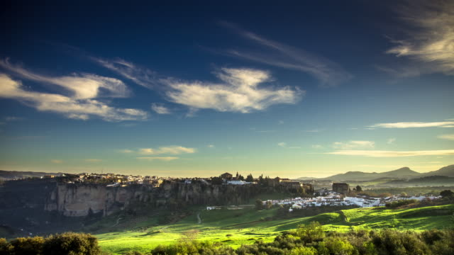 Dawn in Ronda, Spain - Timelapse