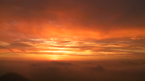 dawn, mystical scene above fog - 40 seconds or greater stock videos & royalty-free footage