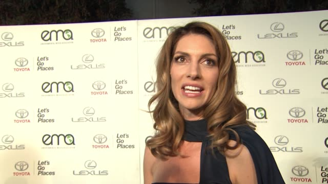 interview dawn olivieri on the event at 25th annual environmental media awards in los angeles ca - environmental media awards stock videos & royalty-free footage