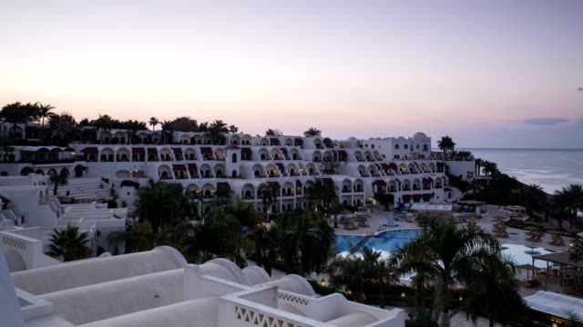 dawn on the coast of sharm el sheikh. egypt. time lapse. - egyptian culture stock videos & royalty-free footage
