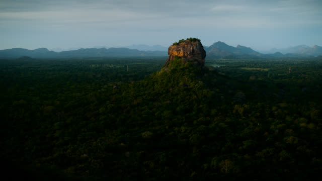 dawn over sigiriya rock, sri lanka. - sri lankan culture stock videos & royalty-free footage