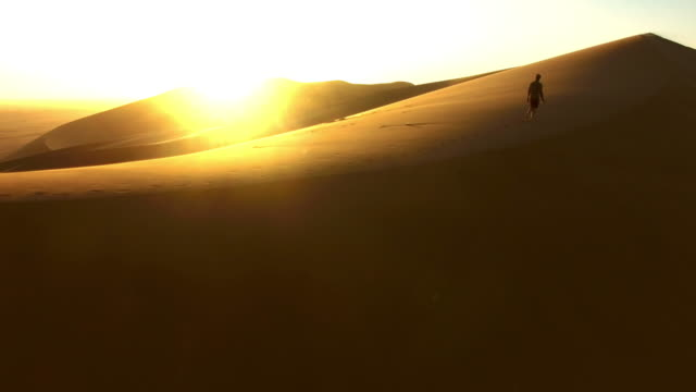 dawn over the dunes - namibian desert stock videos and b-roll footage