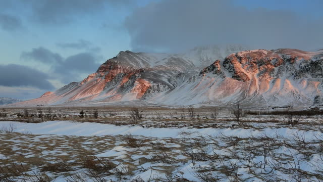 dawn over the esja mountain range, south west iceland - 30 seconds or greater stock videos & royalty-free footage
