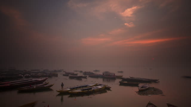 Dawn over the holy river Ganges