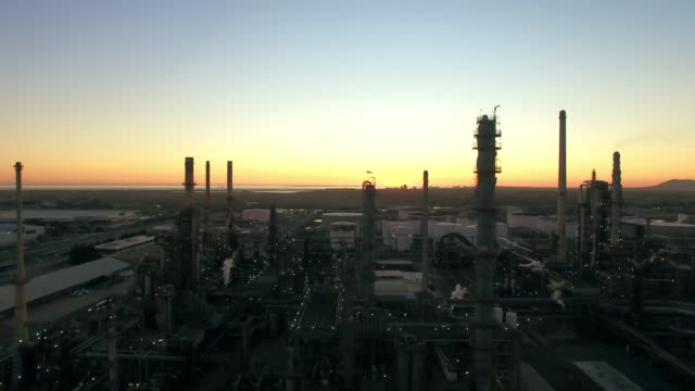 Dawn over the refinery