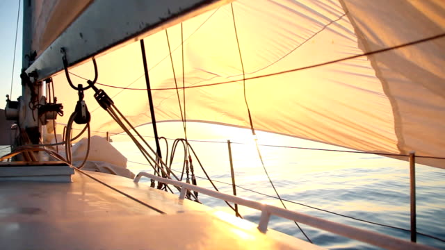 dawn sailing - yacht stock videos & royalty-free footage