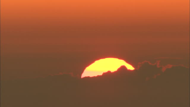 dawn seen from mt. gassan - yamagata prefecture stock videos & royalty-free footage