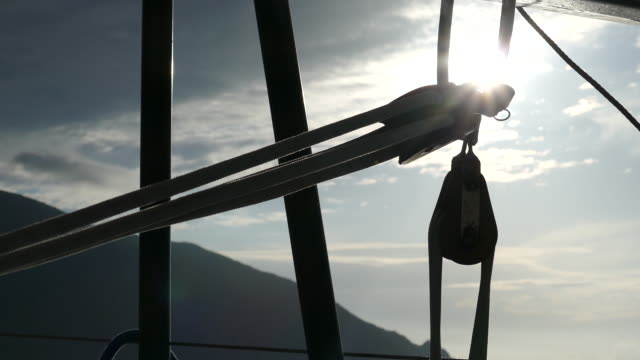 dawn through rigging sails - rigging stock videos & royalty-free footage