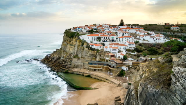 dawn to day t/l at corales view point, sintra, portugal - lisbon stock videos and b-roll footage