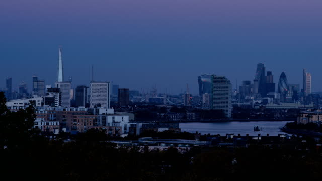 Dawn to day time-lapse of the London Skyline