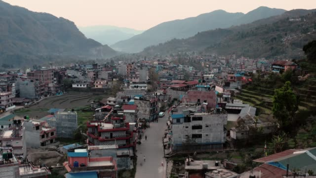 dawn video of besi town, nepal - nepal stock videos & royalty-free footage