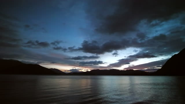 dawn weather at lake - moody sky stock videos & royalty-free footage