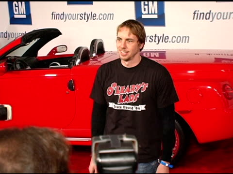 dax shepard at the 4th annual 'ten' fashion show presented by general motors arrivals and interviews at pavilion in hollywoodpavilion in hollywood in... - pavilion stock videos & royalty-free footage