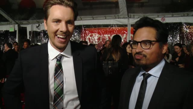INTERVIEW Dax Shepard Michael Pena on presenting their film film Chips at People's Choice Awards 2017 in Los Angeles CA
