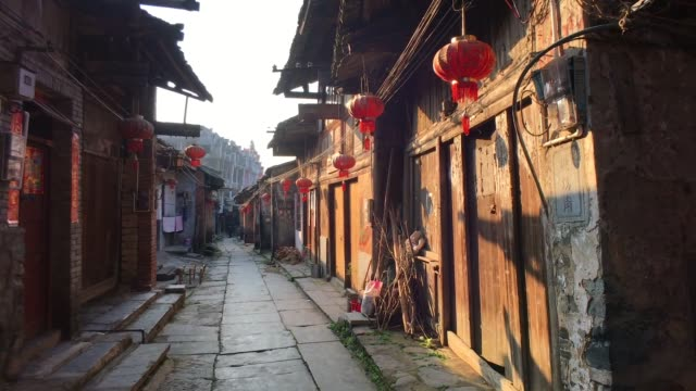 daxu old town in guilin ,china - village stock videos & royalty-free footage