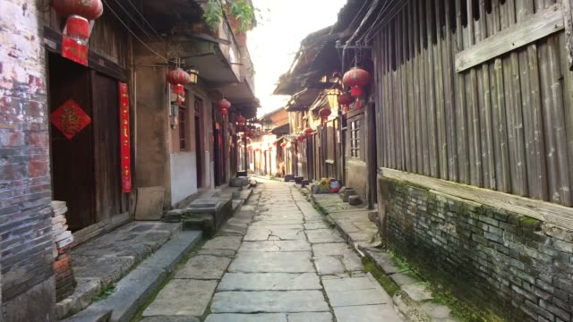 daxu old town in guilin ,china - the past stock videos and b-roll footage
