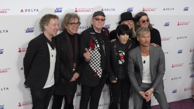 daxx nielsen tom petersson rick nielsen robin zander robin taylor zander jr diane warren and brian tyler at the 2020 musicares person of the year... - diane warren stock videos & royalty-free footage