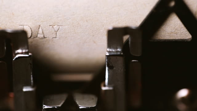 day 1: typing with a retro style typewriter - storyteller stock videos & royalty-free footage