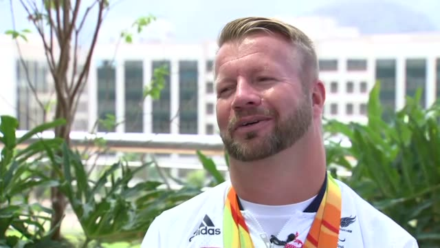 Day 10 Team GB passes target of 121 medals Lee Pearson set up shot / interview SOT